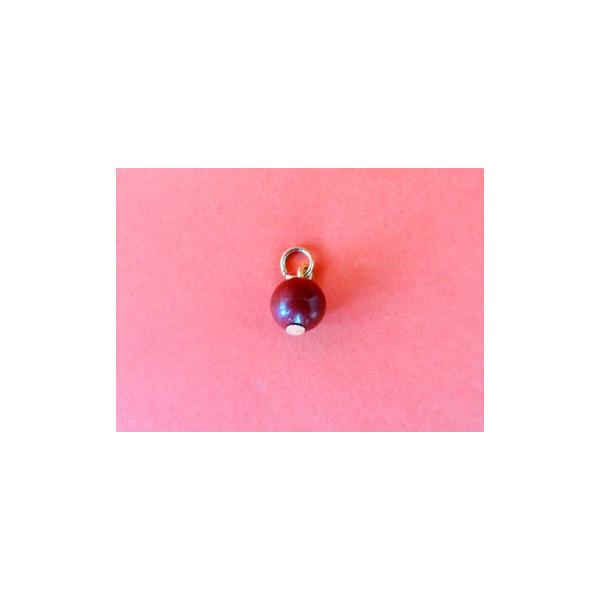 Bolita de Jaspe rojo con anillo para nariz