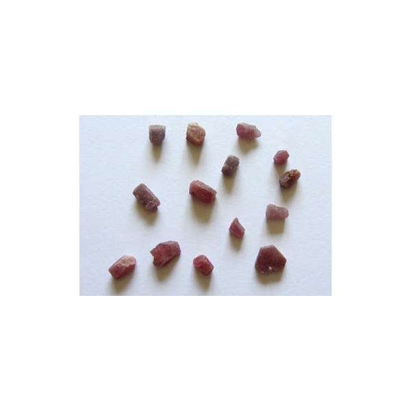 Rubí carbunclo 0,40-1gr (2u)